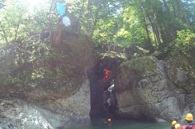 Canyoning Allgäu Schwarzwasserbach (4)