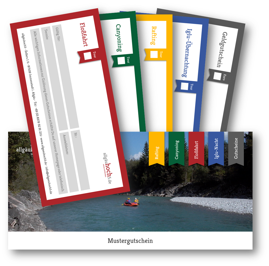 Floßfahrt & Bootspartie Gutschein