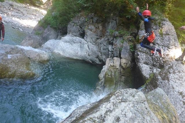 Diese Canyoningtour ist für Einsteiger geeignet ...