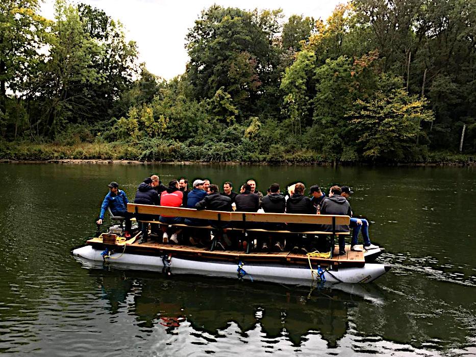 Flossfahrt Donau bei Ulm