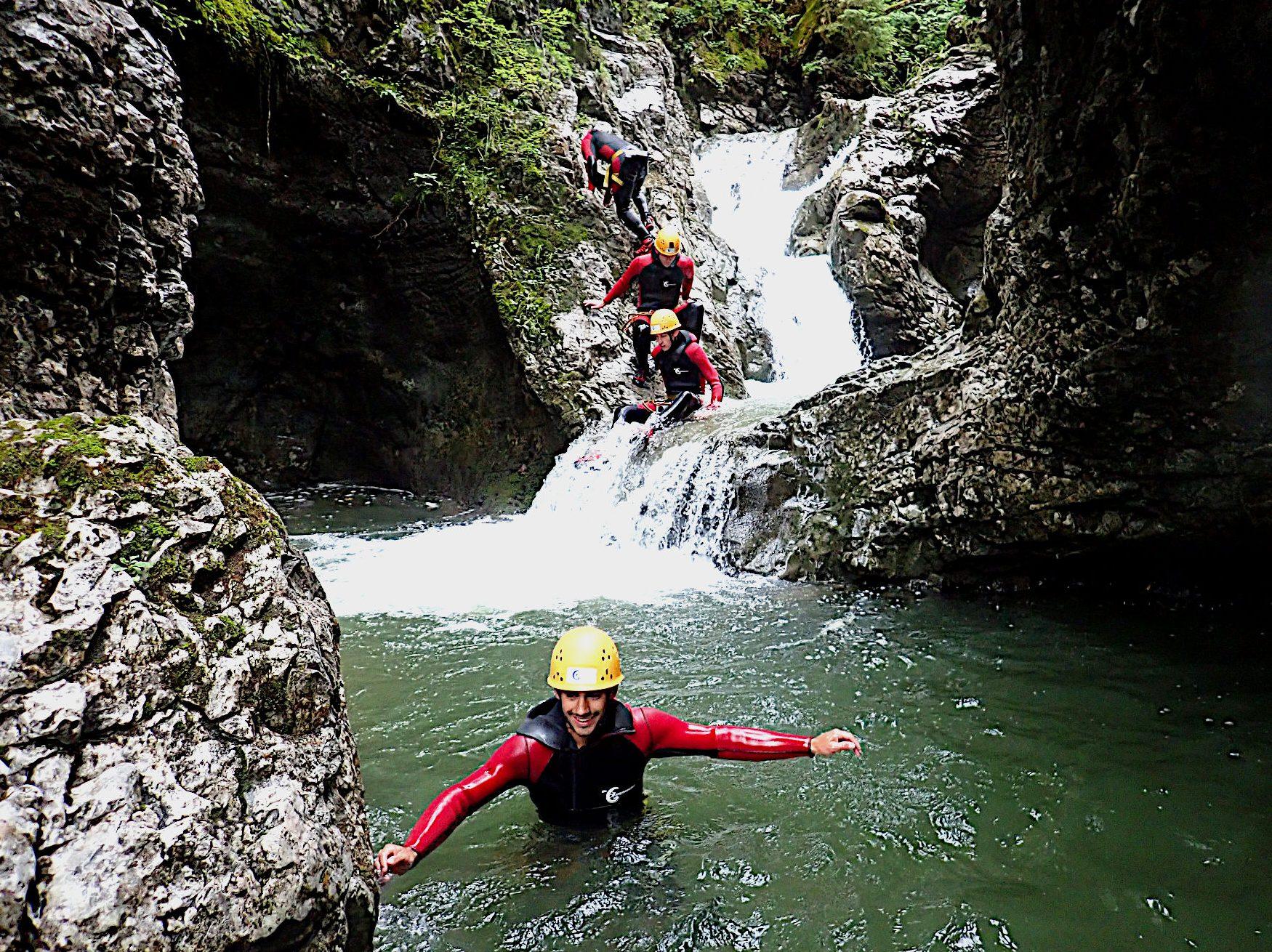 Canyoning Schwarzwasserbach